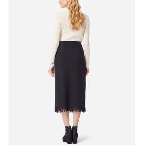 Pendleton 100% virgin wool fringe skirt